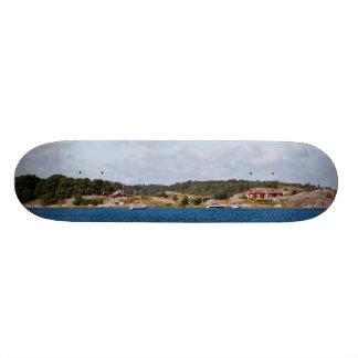Idyllic coast landscape skate board deck