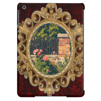 Idyllic Garden With Roses Wooden Fence iPad Air Cover