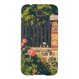 Idyllic Garden With Roses Wooden Fence Galaxy S5 Cover