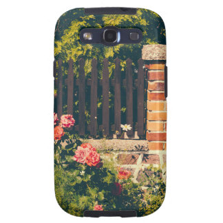 Idyllic Garden With Roses Wooden Fence Galaxy S3 Case