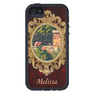 Idyllic Garden With Roses Wooden Fence Case For iPhone 5/5S