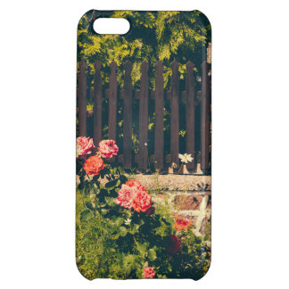 Idyllic Garden With Roses Wooden Fence iPhone 5C Covers