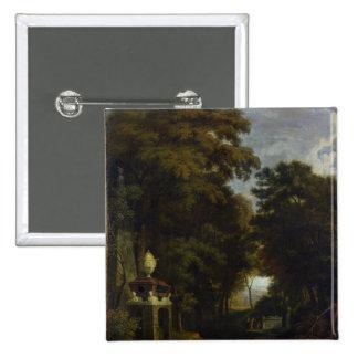 Idyllic Landscape 15 Cm Square Badge