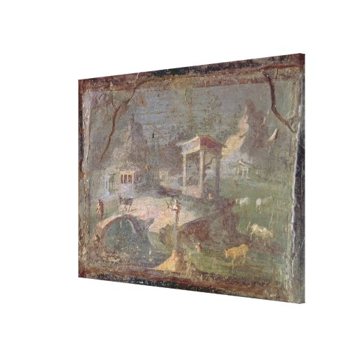Idyllic Landscape, from Herculaneum, Stretched Canvas Print