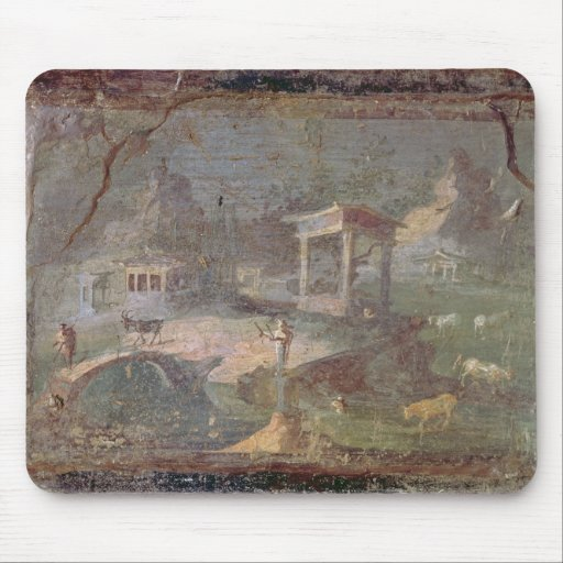 Idyllic Landscape, from Herculaneum, Mouse Pads