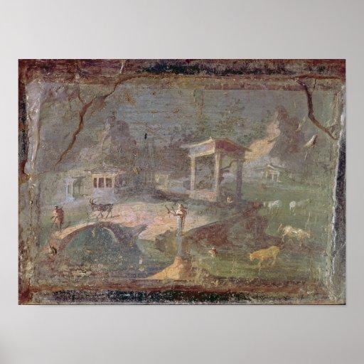 Idyllic Landscape, from Herculaneum, Print
