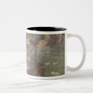 Idyllic Landscape, from Herculaneum, Two-Tone Coffee Mug