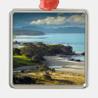 Idyllic New Zealand beach and coastline Christmas Ornament