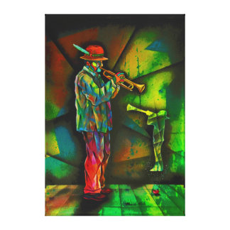 Idyllic sound trumpet canvas print