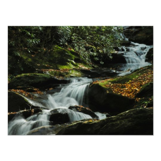 Idyllic Waterfall Photo Poster