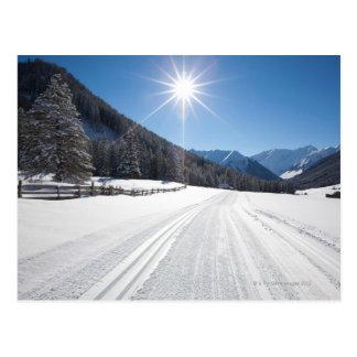 idyllic winter landscapes in the berwanger tal, postcard