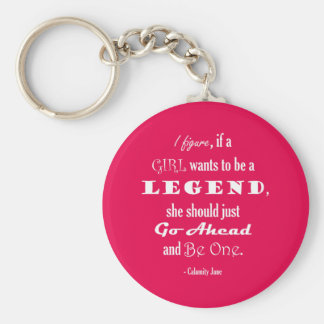 If A Girl Wants To Be A Legend Basic Round Button Key Ring