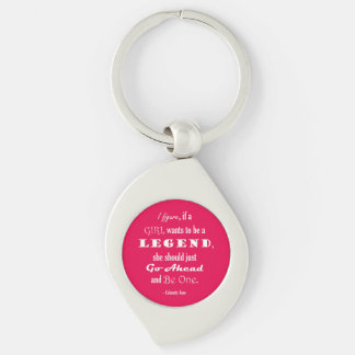 If A Girl Wants To Be A Legend Silver-Colored Swirl Key Ring