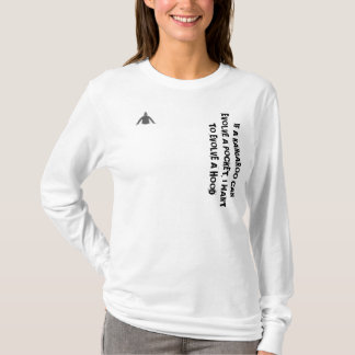 'IF A KANGAROO CAN EVOLVE..' womans hoodie