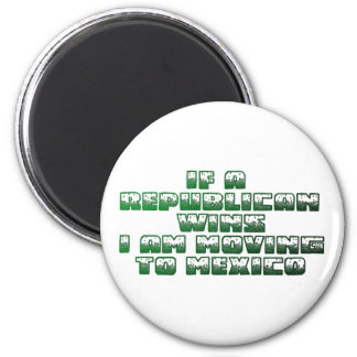 If A Republican Wins(Mexico Version) 6 Cm Round Magnet