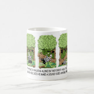 If a tree falls on a mime ... coffee mug