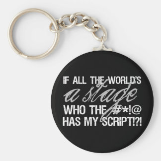 If all the world's a stage ... key ring