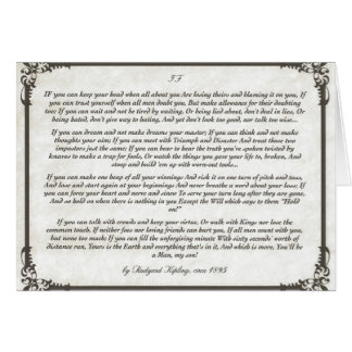 IF =  an Inspiring Poem for Young Men Card