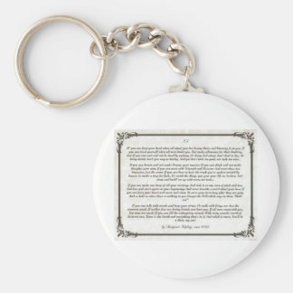 IF an Inspiring Poem for Young Men Key Ring