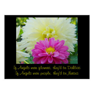 If Angels were people, They'd be Nurses art prints Poster