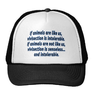 If animals are like us, vivisection is intolerable cap