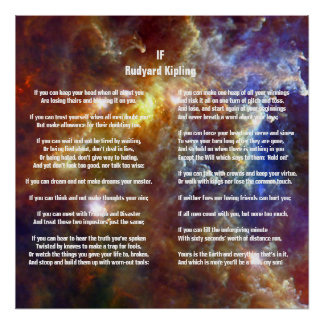 If by Rudyard Kipling Poster