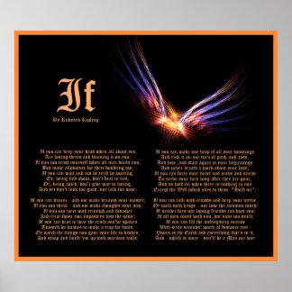 If by Rudyard Kipling with Phoenix Firebird Print
