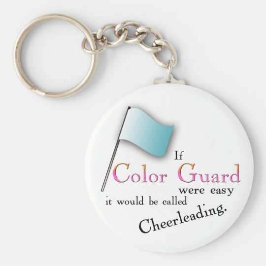 """""""If Colour Guard were easy..."""" Basic Round Button Key Ring"""
