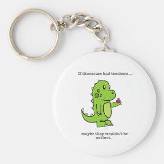 If Dinosaurs Had Teachers Basic Round Button Key Ring