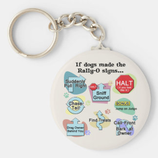 If Dogs Made Rally Signs Basic Round Button Key Ring