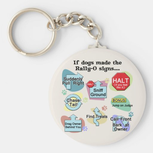 If Dogs Made Rally Signs Keychains
