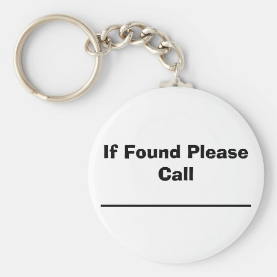 If Found Please Call Basic Round Button Key