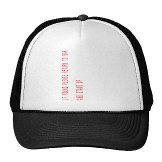 If found please return to pub trucker hat
