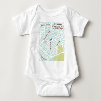 If found, please return to Rockridge. Baby map Baby Bodysuit