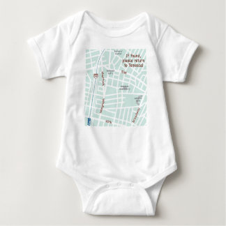 If found, please return to Temescal. Baby map Baby Bodysuit