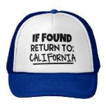 If Found, Return to California Hat