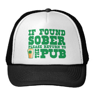 If found SOBER please return to the PUB Cap