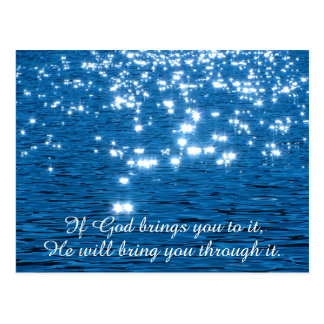 If God Brings you to it Christian Quote Postcard