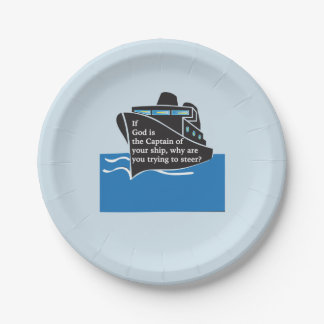 """If God is the Captain"" Plate"