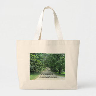 If God were to walk with us and talk with us... Jumbo Tote Bag