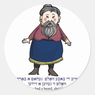 If grandma had a beard, she would be a grandpa classic round sticker