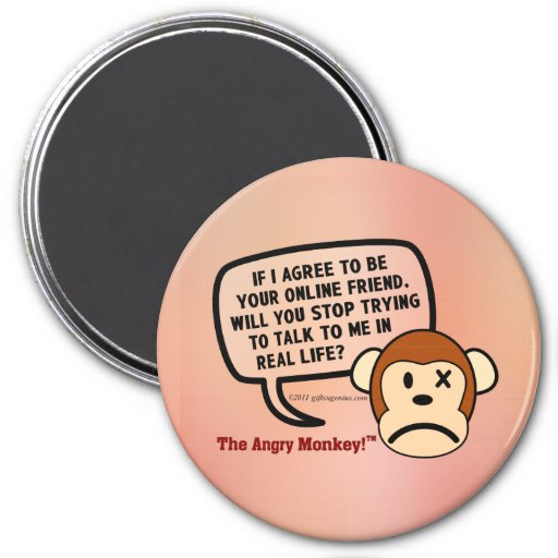 If I accept your friend request will you go away? 7.5 Cm Round Magnet