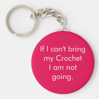 If I can't bring my crochet... Basic Round Button Key Ring