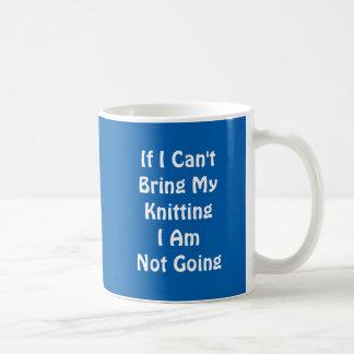 If I can't bring my knitting Basic White Mug