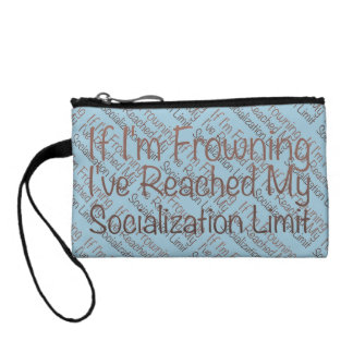 If I'm Frowning…in Brown Coin Wallet