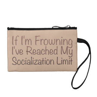 If I'm Frowning…in Brown Change Purses