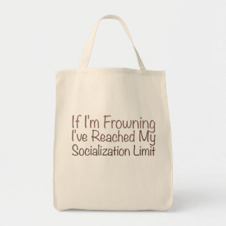 If I'm Frowning…in Brown Grocery Tote Bag