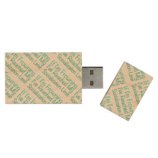 If I'm Frowning…in DuckBlue Wood USB 2.0 Flash Drive