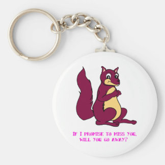 If I promise to miss you, will you go away? Basic Round Button Key Ring