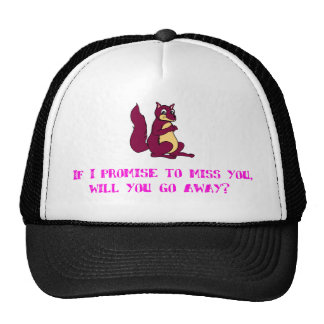 If I promise to miss you, will you go away? Hats